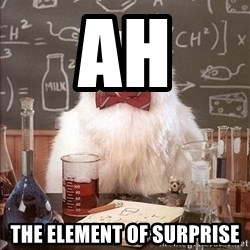 Science Cat - Ah the element of surprise