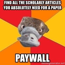 Psychology Student Platypus - Find all the scholarly articles you absolutely need for a paper paywall