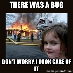 burning house girl - there was a bug Don't worry, I took care of it