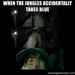 Confused Gandalf - When the jungles accidentally takes blue