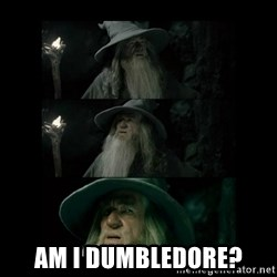 Confused Gandalf -  Am I Dumbledore?