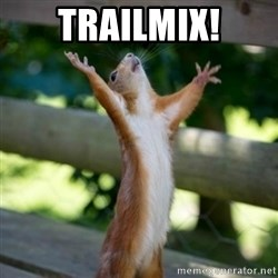 Praising Squirrel - TRAILMIX!
