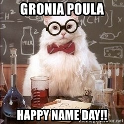 Chemist cat - Gronia Poula Happy Name Day!!
