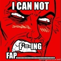 Rage Face - i can not  f*=-ing fap...........................