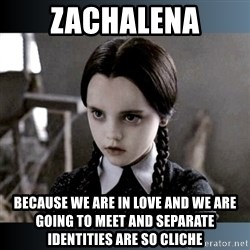 Vandinha Depressao - Zachalena Because we are in love and we are going to meet and separate identities are so cliche