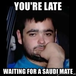 just waiting for a mate - You're Late Waiting for a Saudi Mate