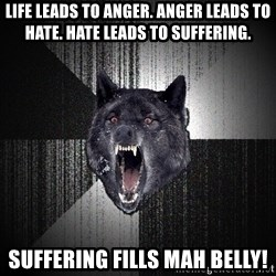 Insanity Wolf - Life leads to anger. Anger leads to hate. Hate leads to suffering. Suffering fills mah belly!