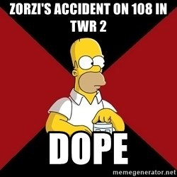 Homer Jay Simpson - Zorzi's accident on 108 in TWR 2 DOPE