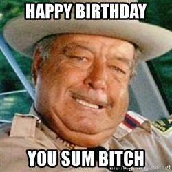 Sheriff Buford T. Justice - Happy Birthday You sum bitch