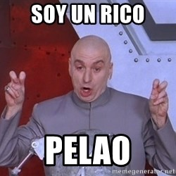 Dr. Evil Air Quotes - soy un rico pelao