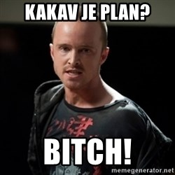 Jesse Pinkman says Bitch - KAKAV JE PLAN? BITCH!