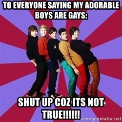 typical 1D - To everyone saying my adorable boys are gays: SHUT UP COZ ITS NOT TRUE!!!!!!