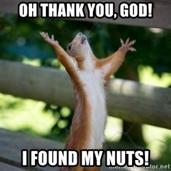 Praising Squirrel - Oh Thank you, God! I found my nuts!