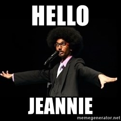 AFRO Knows - hello jeannie
