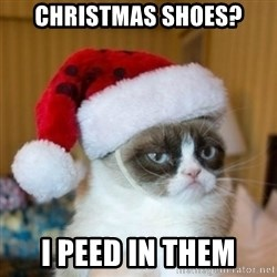 Grumpy Cat Santa Hat - Christmas Shoes? I peed in them