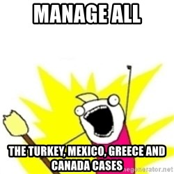 x all the y - Manage all the turkey, mexico, greece and canada cases