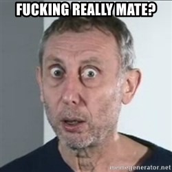 Michael Rosen stares into your soul - fucking really mate?