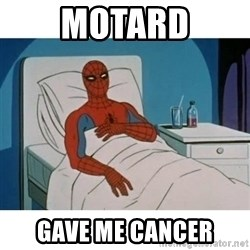 SpiderMan Cancer - motard gave me cancer
