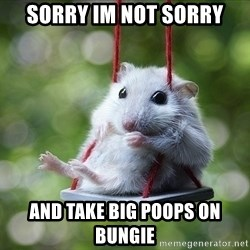 Sorry I'm not Sorry - sorry im not sorry and take big poops on Bungie