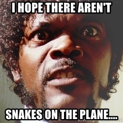 Mad Samuel L Jackson - I hope there aren't snakes on the plane....
