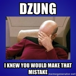 Picard facepalm  - Dzung I knew you would make that mistake