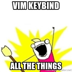 x all the y - vim keybind all the things