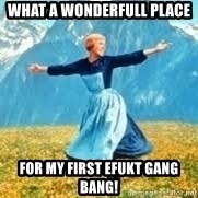 Look at all these - what a wonderfull place for my first Efukt gang bang!