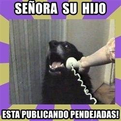 Yes, this is dog! - Señ0ra  su  hijo esta publicando pendejadas!