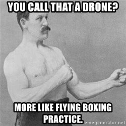 overly manlyman - You call that a drone? More like flying boxing practice.