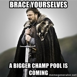ned stark as the doctor - Brace yourselves A bigger champ pool is coming