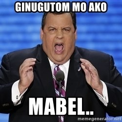 Hungry Chris Christie - ginugutom mo ako mabel..