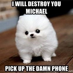 more meat for my duck - i will destroy you michael pick up the damn phone