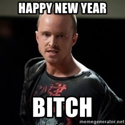 Jesse Pinkman says Bitch - Happy New Year BITCH