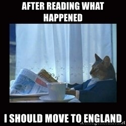 i should buy a boat cat - After reading what happened I should move to england