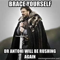 ned stark as the doctor - Brace yourself Dr Antohi will be rushing again