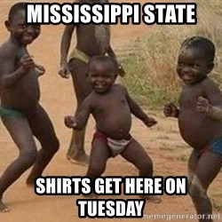 african children dancing - Mississippi state Shirts get here on Tuesday