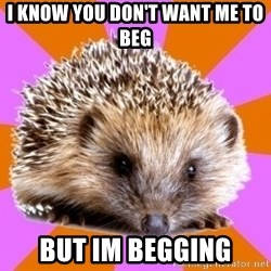 Homeschooled Hedgehog - I know you don't want me to beg But im begging