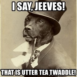 rich dog - I say, Jeeves! That is utter Tea Twaddle!