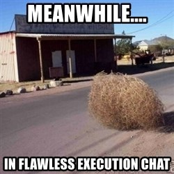 Tumbleweed - MEANWHILE.... IN FLAWLESS EXECUTION CHAT