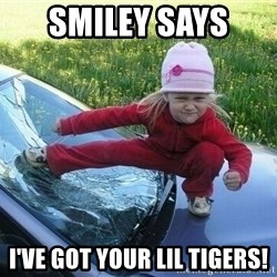 Angry Karate Girl - Smiley says  I've got your lil tigers!