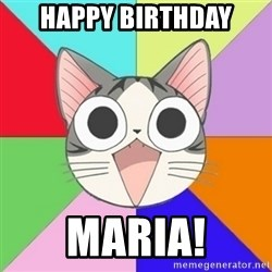 Nya Typical Anime Fans  - Happy Birthday Maria!