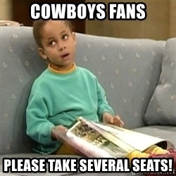 Olivia Cosby Show - Cowboys Fans please take several Seats!
