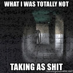Slender game - What I was totally not Taking as shit