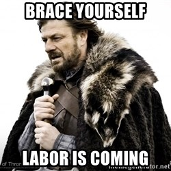 Game of thrones sean bean - BRACE YOURSELF LABOR IS COMING