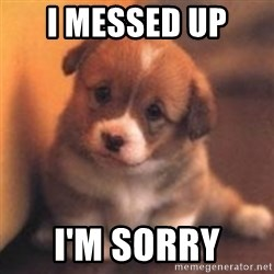 cute puppy - I messed up  I'm sorry