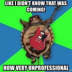 Aspiring Musician Turtle - Like I didn't know that was coming! How very unprofessional