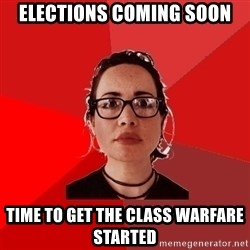 Liberal Douche Garofalo - elections coming soon time to get the class warfare started