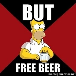 Homer Jay Simpson - But free beer