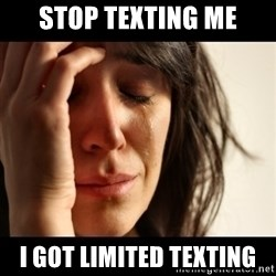 crying girl sad - Stop texting me i got limited texting