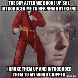 PTSD Karate Kyle - the day after we broke up, she introduced me to her new boyfriend I broke them up and introduced them to my wood chipper
